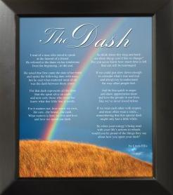 Story Behind THE DASH Poem ~ Click Here