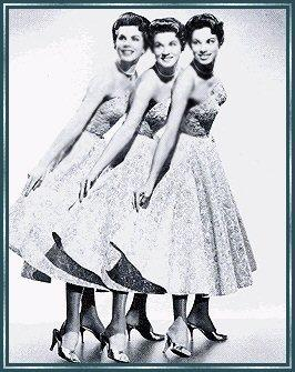 The McGuire Sisters were stars of radio and television and were the most popular sister group of the 1950's..