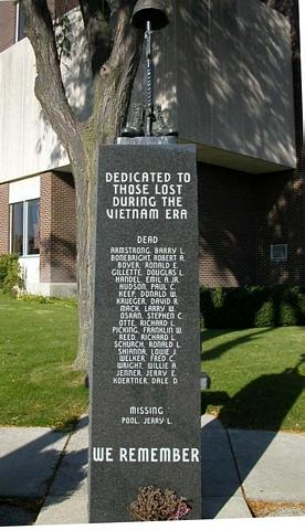 A memorial to Freeporters and Stephenson Countyers killed during the Vietnam War. Click Here for more...