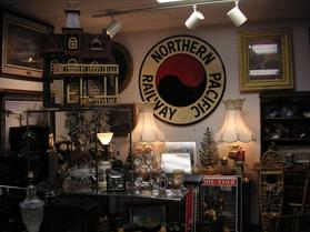 northern pacific railroad sign at West Saint Paul Antiques