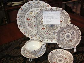 SPODE FLORENCE China - SET of 45 PCS.