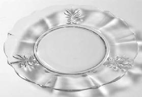 Baroque Luncheon Plate in the Baroque-Clear pattern by Fostoria