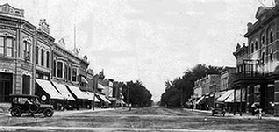 Early view of Main Street looking South from center of town