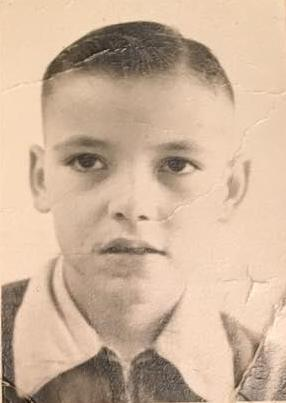 Ernie Gerald Saice at the age of 7