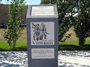 Vietnam War memorial at Fertile Veteran's Memorial Plaza in Minnesota.