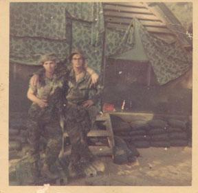 Bill Clark on left KIA 8-4-1970 2nd squad 6th platoon, 1st Force Recon Co. Team IP SWITCH Submitted by Arthur Bradshaw on right...