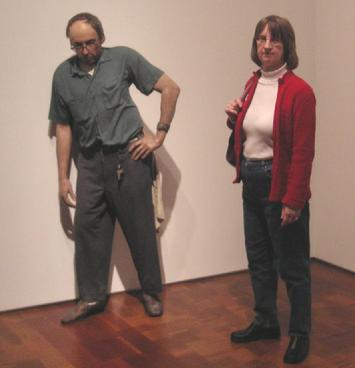 Milwaukee Art Museum - �The Janitor� � a statue and Linda (2005)
