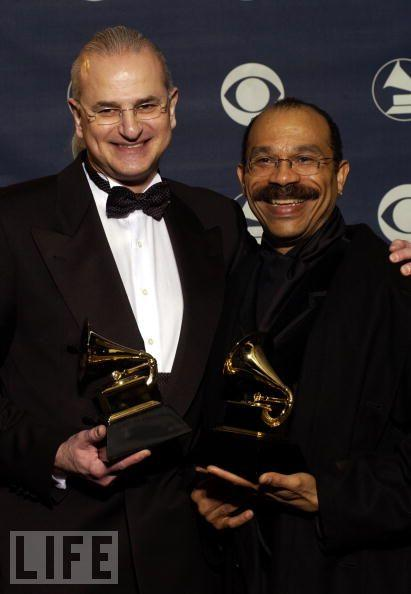 Steve Barnett, producer, and conductor Joseph Jennings, with Chanticleer, wins the GRAMMY for Best Small Ensemble Performance for 'Tavener: Lamentations and Praises.