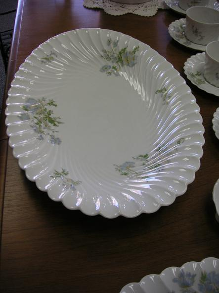 "Haviland Limoges Margaux 16"" Large Oval Pltter"