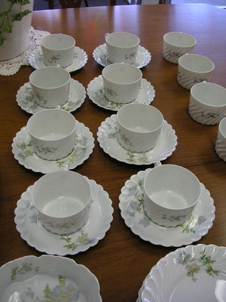 Haviland Limoges Margaux (13) Coffee Cups & (8) Saucers