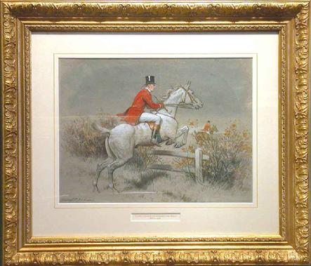"Title: On the Hunt - Medium: Watercolor 14"" x 10""  John Alexander Harrington Bird was born in England in 1846. He was a painter of sporting and genre scenes and worked in both mediums of oils and watercolors. He studied at the Royal Academy Schools and began exhibiting at the Royal Academy in 1870 and continued to do so until 1893.Some of his paintings exhibited at the Royal Academy were �The Horsepond�, 1870 and �Rival�, 1893. Bird also exhibited at the Suffolk Street and elsewhere. In 1877, he immigrated to Montreal to assume the post of Director of the Montreal School of Art.  He died in 1936."