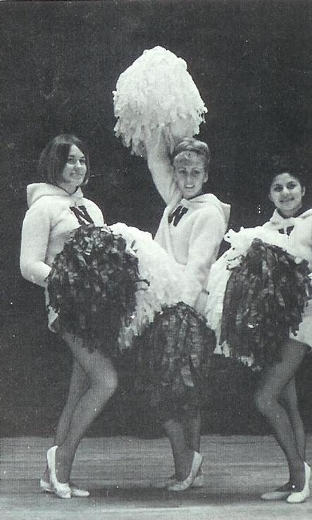 1966 Polarette officers were Barb Kline, Treasurer; Marsha Johnson, Captain; Corona Relopez, co-captain.