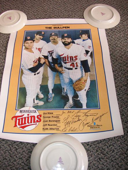 Power Poster 8 - The Bullpen - Joe Klink, George Frazier, Juan Berengeur, Jeff Reardon and Keith Atherton