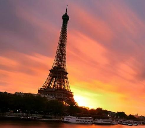 Fred & Leslie Knight Paris France Sunset 2013