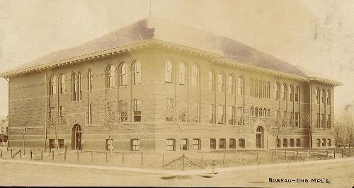 Blaine Elementary School - Post Card 1890's