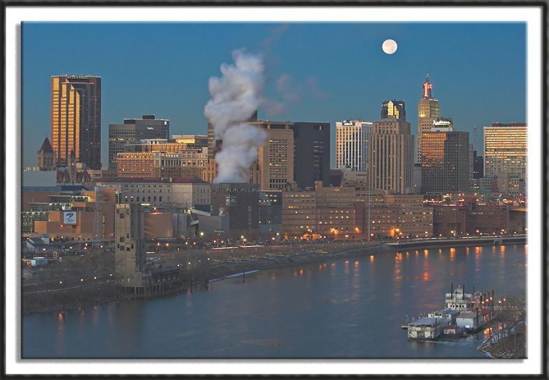 Full Moon Over St. Paul