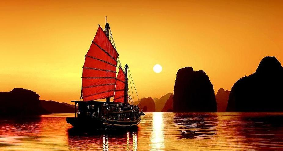Ha Long Bay, Vietnam Sunset