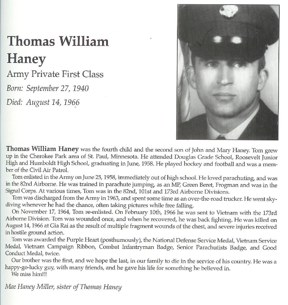 "Thomas William ""Tom"" Haney"